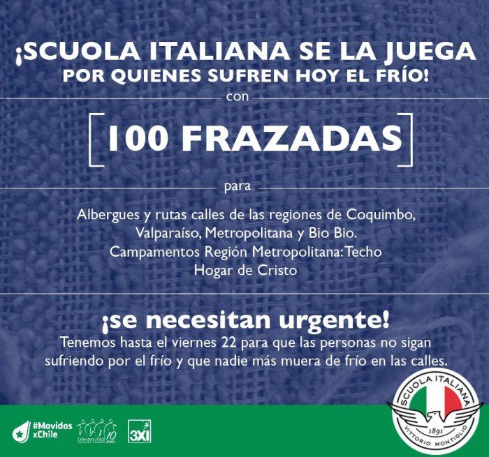 Campaña Frazadas Scuola Italiana